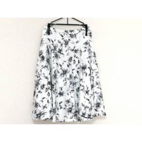 【中古】 ジャスグリッティー JUSGLITTY スカート サイズ0 XS レディース 美品 白 黒 マルチ 花柄