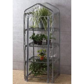ビニール温室棚スリム用カバー 4段 植物を守る ビニールハウス フラワーラック OST2-CV4G