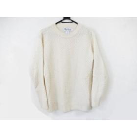 【中古】 ハーレーオブスコットランド 長袖セーター サイズ40 M メンズ 美品 アイボリー