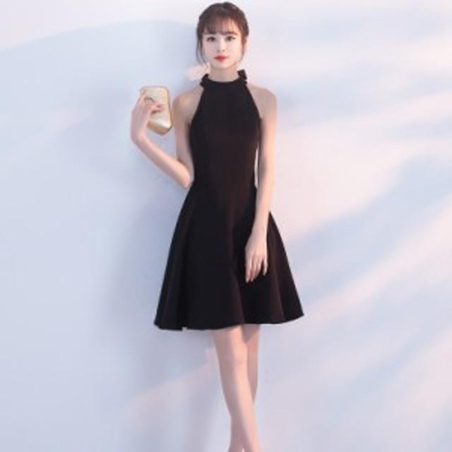 ブライズメイドドレス 韓国 ワンピース 結婚式 お呼ばれドレス ワンピース ミモレ丈 膝丈 パーティードレス Aライン 結婚式 二次会 同窓