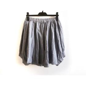 【中古】 フラボア FRAPBOIS スカート サイズ0 XS レディース グレー ダークネイビー 白 ドット柄