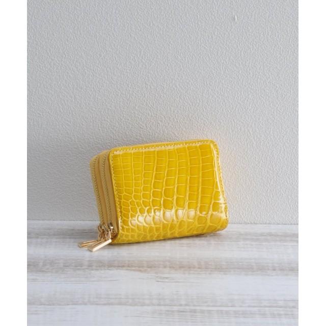 ミーノ [mieno] クロコダイルレザーゴールドミニ財布 レディース イエロー FREE 【mieno】