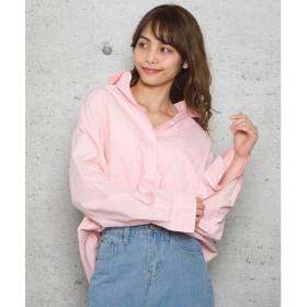ジュエローブ Jewelobe タイプライタービッグシャツ (ピンク)