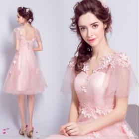 結婚式 二次会 パーティードレス 可愛い♪ プリンセスライン 花嫁♪人気 素敵 ワンピース ブライダル  大きいサイズ  ウェディングドレス