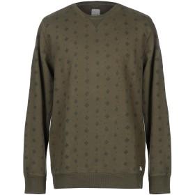 《期間限定 セール開催中》DSTREZZED メンズ スウェットシャツ ミリタリーグリーン XL コットン 100%