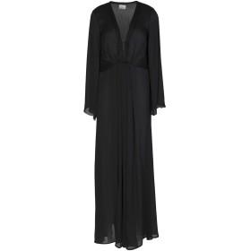 《セール開催中》,MERCI レディース ロングワンピース&ドレス ブラック 40 ポリエステル 100%