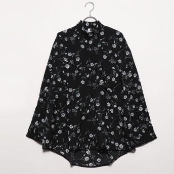 フューティアランド Futier Land アームボタンBIGシャツ (ブラック)