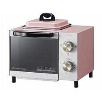 目玉焼き機能付き オーブントースター (ピンク) KOS-0703-P