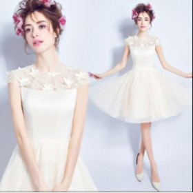 素敵♪ プリンセスライン  ワンピース 結婚式 二次会 花嫁♪ パーティードレス  ブライダル  大きいサイズ ウェディングドレス