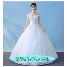 ハイウエスト 大人の魅力 ウェディングドレス Aラインワンピース 高級刺繍 結婚式ワンピース 白ドレス きれいめ ドレス 花嫁