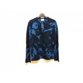 【中古】 ラコステ Lacoste 長袖カットソー サイズ3 L メンズ ネイビー ブルー ライトブルー 迷彩柄