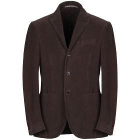 《期間限定セール開催中!》CANTARELLI メンズ テーラードジャケット ダークブラウン 48 コットン 100%