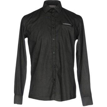 《9/20まで! 限定セール開催中》GREY DANIELE ALESSANDRINI メンズ シャツ ブラック 40 コットン 97% / ポリウレタン 3%