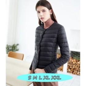 ミセスファッション レディース ダウンコート カジュアル 軽量ダウンジャケット 大きいサイズ 3色 薄型 プレミア超軽量ダウンコ