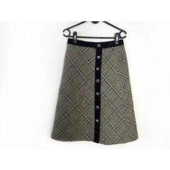 【中古】 ロイスクレヨン Lois CRAYON 巻きスカート サイズM レディース 黒 マルチ