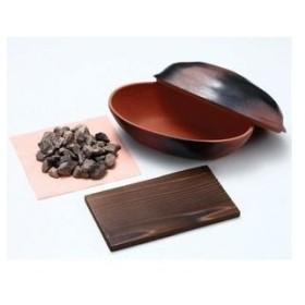 ds-870274 電子レンジで石焼きいも鍋 天然石使用 日本製 (ds870274)