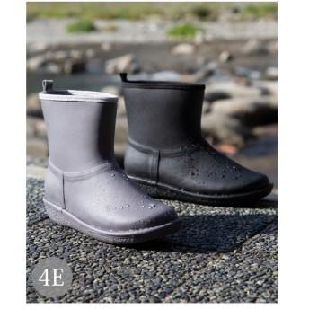 シューズ レイン 大きいサイズ レディース ステッチ風デザイン ショート ブーツ 防水仕様 ワイズ4E相当 ニッセン