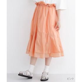 【30%OFF】 メルロー ギャザーフリルナイロンスカート レディース ピンク FREE 【merlot】 【セール開催中】
