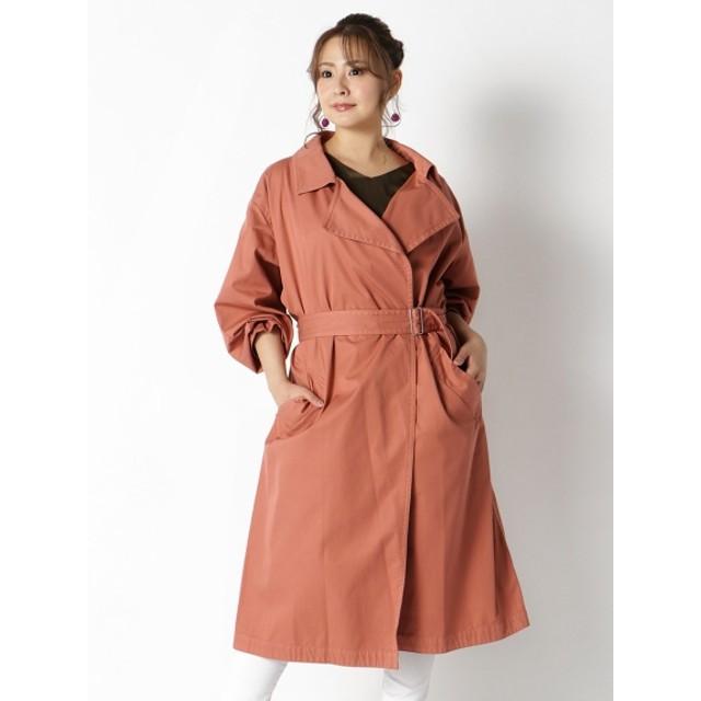 【大きいサイズレディース】【3-4L】ベーシックデザインスプリングコート アウター スプリングコート