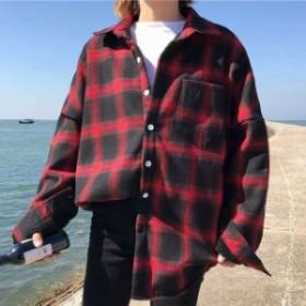オーバーサイズ 冬 ブラック レディース 送料無料 秋 シャツジャケット ジャケット レッド アウター フリーサイズ