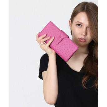 ミーノ [mieno] オーストリッチレザーフォーマル財布 レディース ピンク FREE 【mieno】