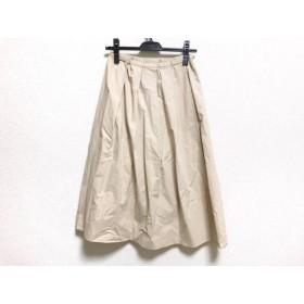 【中古】 バーバリーブルーレーベル スカート サイズ38 M レディース ベージュ ウエストゴム