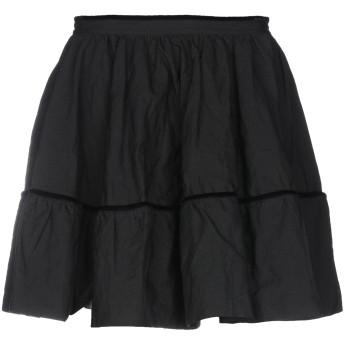 《セール開催中》LUCILLE レディース ミニスカート ブラック 42 コットン 90% / 金属 10%