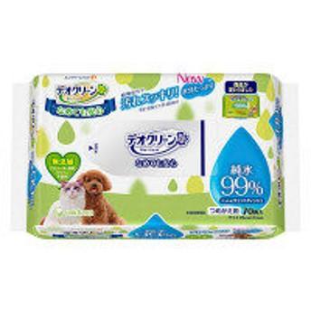 デオクリーン 犬猫用 純水99%ウェットティッシュ 詰め替え用 70枚 1個 ユニ・チャーム