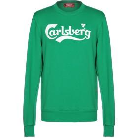 《セール開催中》CARLSBERG メンズ スウェットシャツ グリーン M コットン 100%