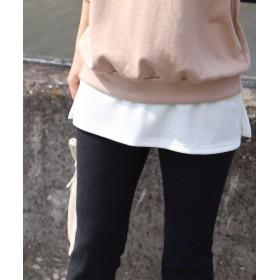 【32%OFF】 レカ スリットレイヤードワッフルTシャツ レディース ホワイト FREE 【reca】 【セール開催中】