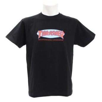 THRASHER Oval MAG 半袖Tシャツ TH91135BK/RE (Men's)