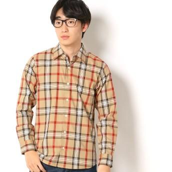 [マルイ]【セール】コットンツイルチェックシャツ/モルガンオム(MORGAN HOMME)