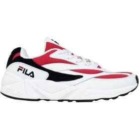 《セール開催中》FILA レディース スニーカー&テニスシューズ(ローカット) レッド 36.5 革 / 紡績繊維 V94M low wmn