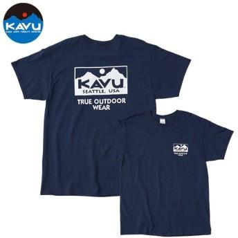 カブー KAVU Ms トゥルーロゴTシャツ ネイビー