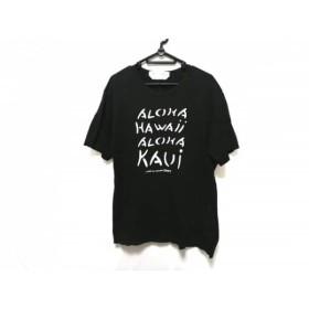 【中古】 コムデギャルソンシャツ COMMEdesGARCONS SHIRT 半袖Tシャツ サイズL メンズ 黒 白