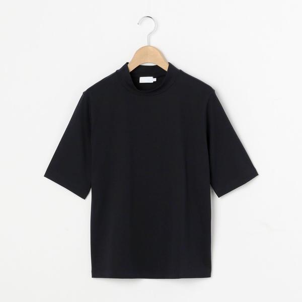ビショップ (レディース) 【handvaerk】 WOMEN/ (Bshop) モックネック5分袖Tシャツ