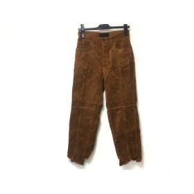 【中古】 ケイ シラハタ kei shirahata パンツ サイズ0 XS レディース ブラウン ダメージ加工