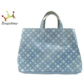 84a625496bb8 デイリーラシット Daily russet トートバッグ ブルー×ライトグレー PVC(塩化ビニール)×