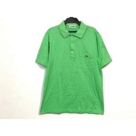 【中古】 ラコステ Lacoste 半袖ポロシャツ サイズ3 L メンズ ライトグリーン