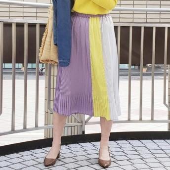 VICKY ビッキー 配色プリーツスカート