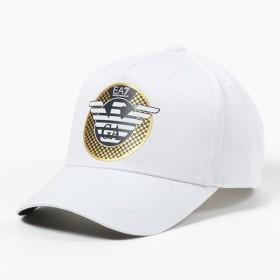 EA7 EMPORIO ARMANI エンポリオアルマーニ 275868 9P510 00010 コットン ベースボールキャプ 帽子 WHITE メンズ