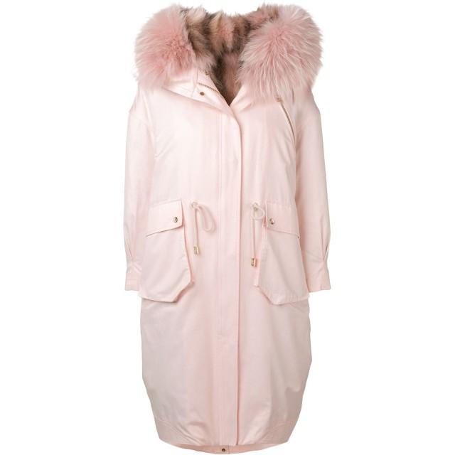 Liska ファートリム コート - ピンク