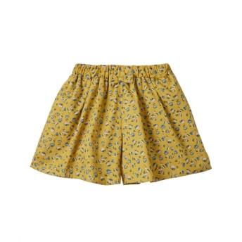 スカート見えが可愛い♪布帛総柄キュロット(女の子 子供服。ジュニア服)ポケット付 キュロット・パンツインスカート・スカート