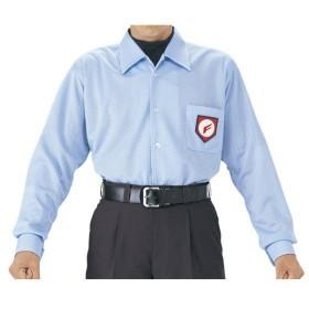 [在庫処分品につき返品交換不可] [SSK]エスエスケイ 審判用長袖メッシュシャツ (UPW015) パウダーブルー ※商品にマークはついておりません