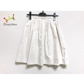 エストネーション ESTNATION スカート サイズ36 S レディース 美品 アイボリー     スペシャル特価 20190801【人気】