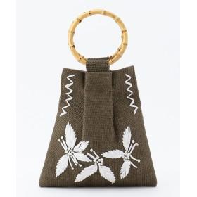 SHARE PARK LADIES シェアパーク レディース 刺繍ジュートミニ バッグ