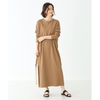 Demi-Luxe BEAMS / 天竺ロングスリーブ ワンピース レディース ワンピース CAMEL ONE SIZE