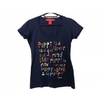【中古】 コーチ COACH 半袖Tシャツ サイズXS レディース ネイビー マルチ