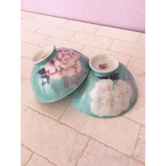 芍薬の夫婦茶碗