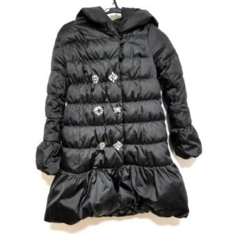 【中古】 チェスティ Chesty ダウンコート サイズ0 XS レディース 黒 ビジュー/冬物